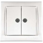 Camilya Выключатель с подсветкой 2кл. (белый)