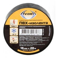 Изолента ПВХ Aviora черная (15ммх20м)