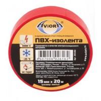 Изолента ПВХ Aviora красная (15ммх20м) (уп200)
