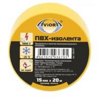 Изолента ПВХ Aviora желтая (15ммх20м)