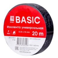 Изолента ПВХ EKF черная 15ммх20м (уп10/200шт)