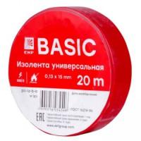 Изолента ПВХ EKF красная 15ммх20м (уп10/200шт)