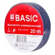Изолента ПВХ EKF синяя 15ммх20м (уп10/200шт)