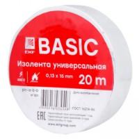 Изолента ПВХ EKF белая 15ммх20м (уп10/200шт)