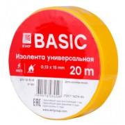 Изолента ПВХ EKF желтая 15ммх20м (уп10/200шт)