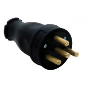 Вилка переносная каучук 3Р+Е 25А 380-415V IP44 (уп/24шт)