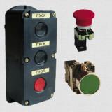 Посты кнопочные, кнопки управления, переключатели