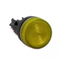 Лампа сигнальная ENS-22 желтая 220В EKF