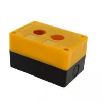 Корпус КП102 пластиковый 2 кнопки желтый EKF