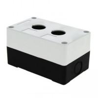 Корпус КП102 пластиковый 2 кнопки белый EKF