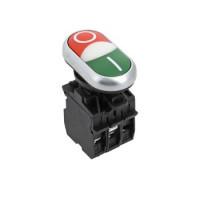 Кнопка LA32HND красно-зеленая Пуск-Стоп с подсветкой NO+NC EKF