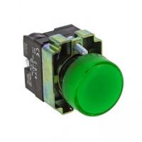 Лампа сигнальная BV63 зеленая EKF