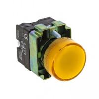 Лампа сигнальная BV65 желтая EKF