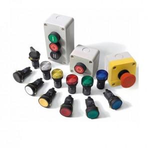 Кнопка синяя 1НЗ Push-button 22mm PBMPL2