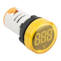 Индикатор значения напряжения желтый ED16-22VD EKF
