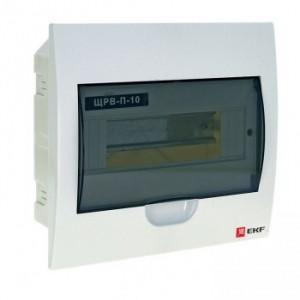 Щит распределительный встраиваемый ЩРВ-П-10 IP40 EKF
