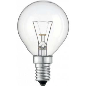 Лампа Philips P45 40W E27 шар прозрачный (уп/10 шт)