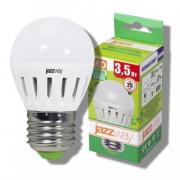 Лампа светодиодная PLED-ECO-G45/PW 3,5w E27 2700K 250Lm шарообразная Jazzway