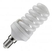 Лампа компактная люминесцентная TOSHIBA Спираль EFS8L/27-E14 теплый белый свет (уп/20 шт)