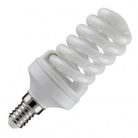 Лампа компактная люминесцентная TOSHIBA Спираль EFS8L/27-E27 теплый белый свет (уп/20 шт)
