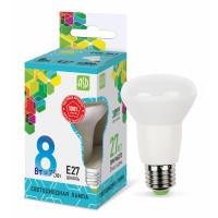 Лампа светодиодная LED-R63-standard 8Вт 160-260В Е27 4000К 720Лм ASD