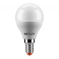 Лампа LED шар E14 7.5w 4000K 675Лм WOLTA 25S45GL7.5E14-P