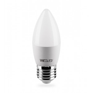 Лампа LED свеча E27 7.5w 4000K 675Лм WOLTA 25SC7.5E27-P