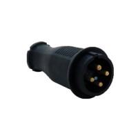 Вилка переносная каучук 3Р+Е 16А 380-415V IP44 (уп/20шт)