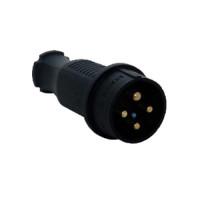 Вилка переносная каучук 3Р+Е 32А 380-415V IP44 (уп/20шт)