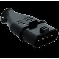 Вилка кабельная плоская 3Р+Е 16-25А 380-415V IP44(уп/20шт)