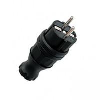 Вилка прямая каучуковая 230В 2P+PE 16A IP44 (уп.24/к.240шт) EKF