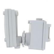 ИК датчик движения MS-01 бел.на прожектор 1200Вт 120гр. до 12м. IP44 EKF