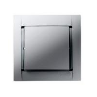 Выключатель 1 кл. (металлик алюминий) Simon 34