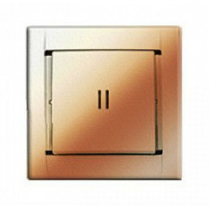 Выкл. 1кл. с подсветкой (металлик шампань) Simon 34