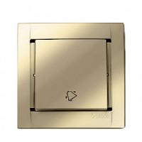 Кнопка клавишная свет (металлик шампань) Simon 34
