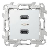 Зарядное устройство розетка 2хUSB, белый, Simon 24