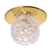 Светильник Ice 12 5 04 с ограненным стеклом, цветок, золото, GU5.3