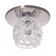 Светильник Ice 12 5 05 с ограненным стеклом, цветок, хром, GU5.3