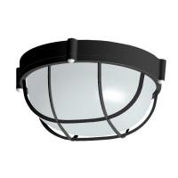 Светильник Банник 1302 Круг малый НПП 03-60-014 IP65 корпус с решеткой черный ГИ ЭЛЕТЕХ