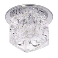 Светильник Ice 12 7 05 ограненное стекло, куб большой, хром, GU5.3