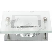 Светильник встраиваемый Amber 51 3 05 под галогенную лампу 50W GU5,3, квадратный со стеклом, хром Comtech