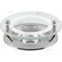 Светильник встраиваемый Amber 51 2 05 под галогенную лампу 50W GU5,3, круглый со стеклом, хром Comtech