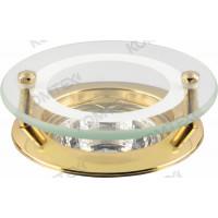 Светильник встраиваемый Amber 51 2 04 под галогенную лампу 50W GU5,3, круглый со стеклом, золото Comtech