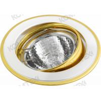 Светильник встраиваемый Corona 51 7 24 50W GU5,3 поворотный золото/никель/золото под литье Comtech (СКИДКА 50 %)