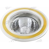 Светильник встраиваемый Corona 51 6 22 50W GU5,3 круглый никель/золото/никель под литье Comtech