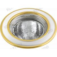 Светильник встраиваемый Corona 51 6 24 50W GU5,3 круглый золото/никель/золото под литье Comtech
