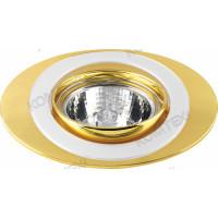 Светильник встраиваемый Saturn 51 7 24 50W GU5,3 поворотный овальный золото/никель/золото Comtech (СКИДКА 50 %)
