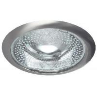 Светильник Down light 226 03 06 2х26W E27 круглый встр. со стеклом под комп. люмин. лампу с ПРА никель