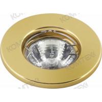 Светильник встраиваемый Carina 35 0 04 под галогенную лампу 35W GU4 золото Comtech