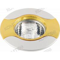 Светильник встраиваемый Storm 35 0 24 литой, под галогенную лампу 35W G4, золото/никель/золото Comtech